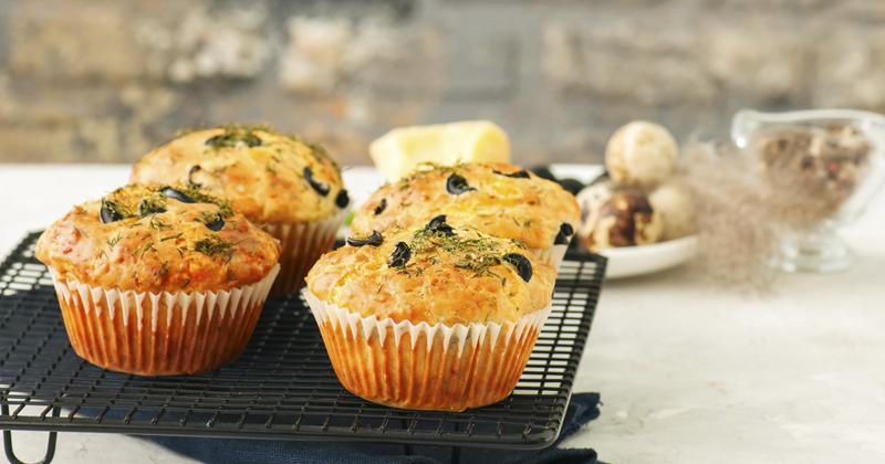Muffins aux tomates séchées et olives