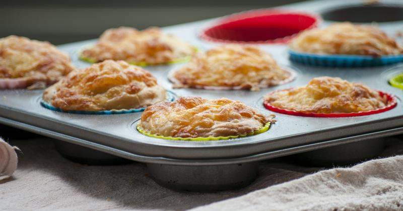 Muffins au chorizo et à l'emmental