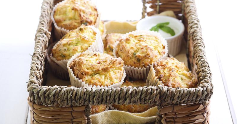 Muffins à la fondue de poireaux