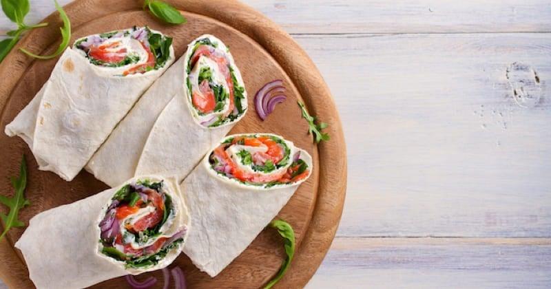 Wraps de saumon  Recette