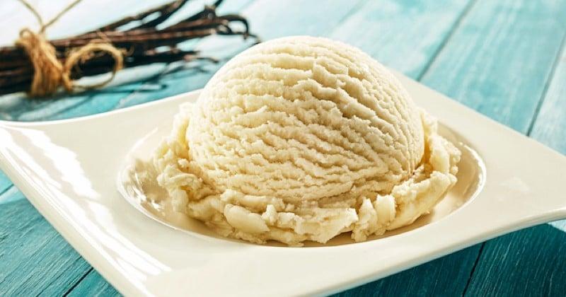 crème glacée à la vanille sans sorbetière