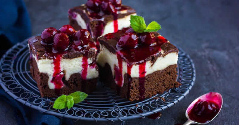 duo cheesecake brownie