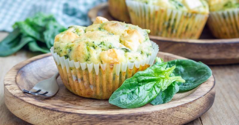 muffins épinards et feta