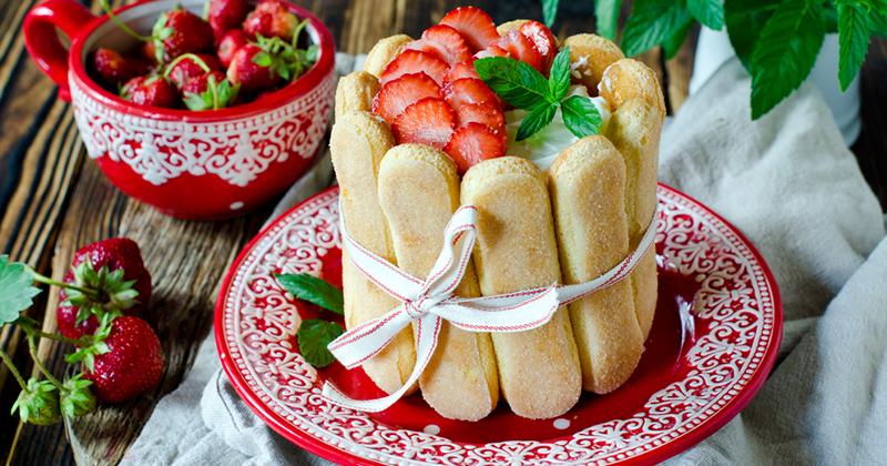 Mini charlottes aux fraises
