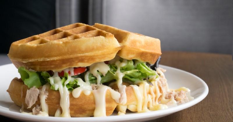 sandwich gaufre au thon