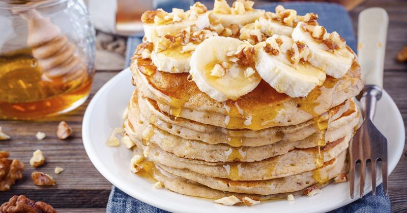 Pancakes healthy à la banane et aux flocons d'avoine