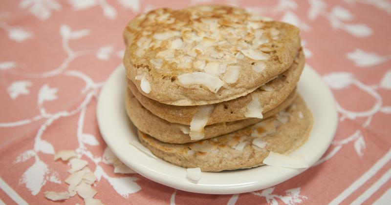 Pancake healthy au coco