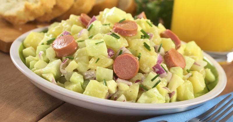 Salade de pommes de terre aux saucisses de Francfort
