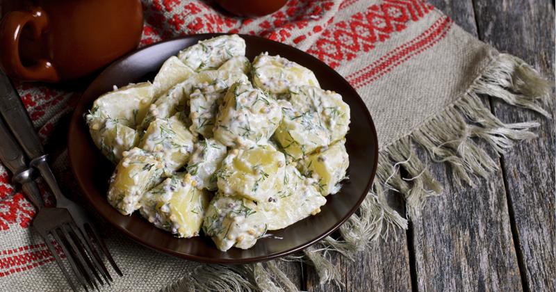 Salade de pommes de terre aux oignons