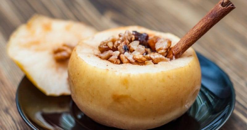 pommes farcies au crumble de noix