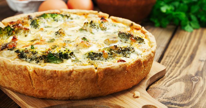 Quiche saludable con brócoli y especias