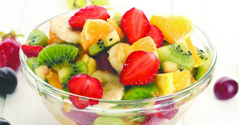 Salade de fruits au vin doux