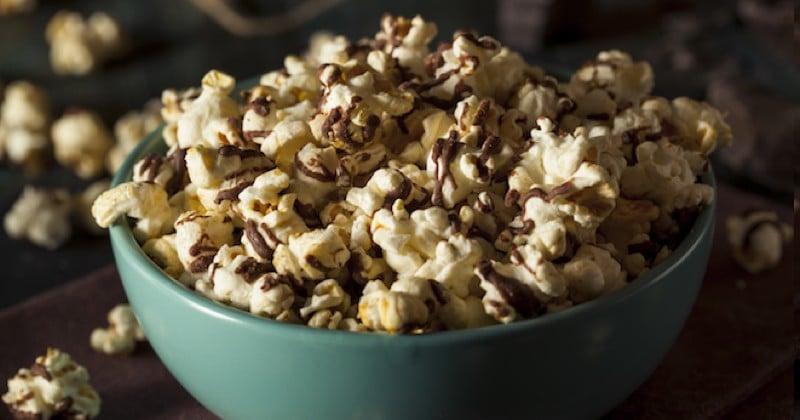 pop-corn chocolat vanille