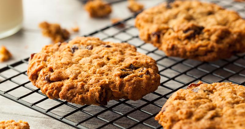 Cookies aux flocons d'avoine et aux raisins secs Recette