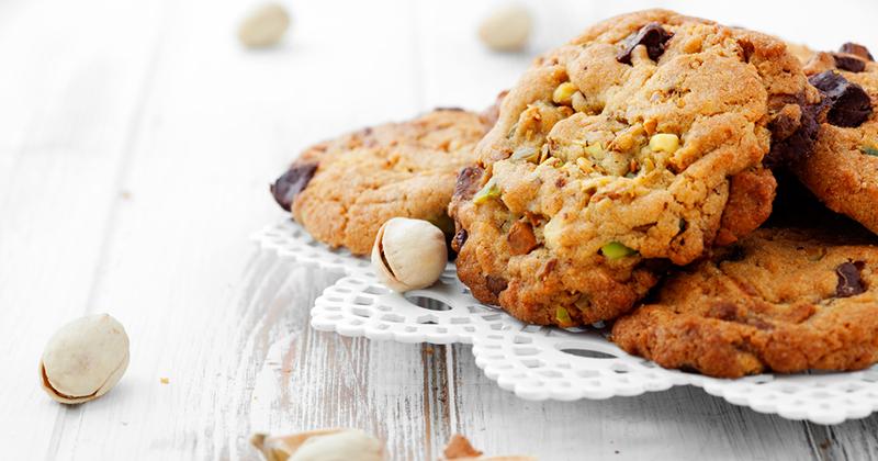 Cookies au chocolat et à la pistache