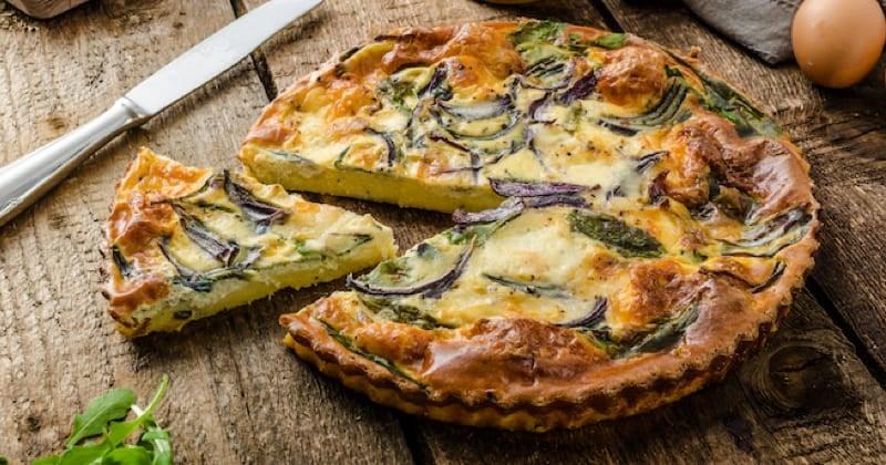 Quiche de polenta, épinards et mozzarella Recette