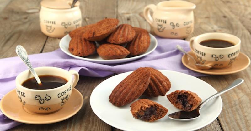 madeleines au chocolat coeur coulant