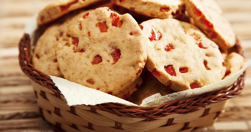 Cookies poivron pancetta Recette