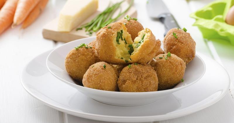 Croquettes de pommes de terre au parmesan et sardines