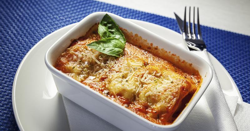 Lasagnes d'aubergines à la tomate et mozzarella