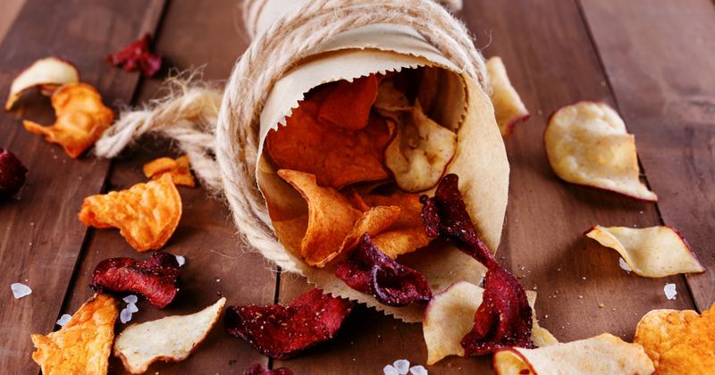 Chips de légumes au four sans huile