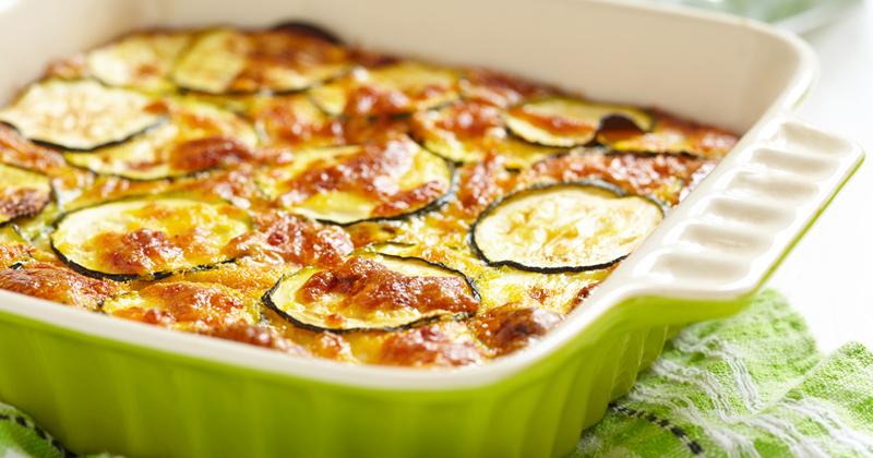 Clafoutis aux courgettes et mozzarella