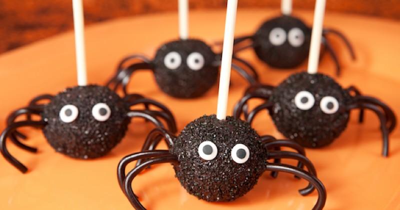 cake pops araignées
