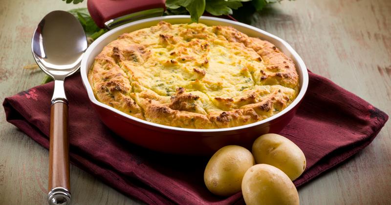 Pastel de patata parmesana