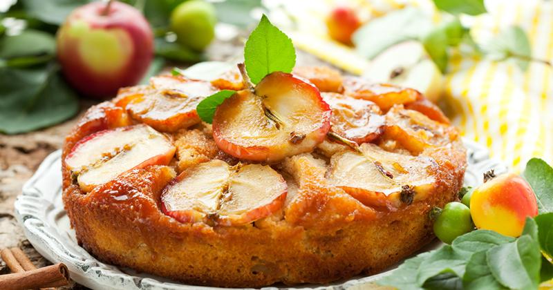Gâteau aux pommes, chocolat blanc et mascarpone
