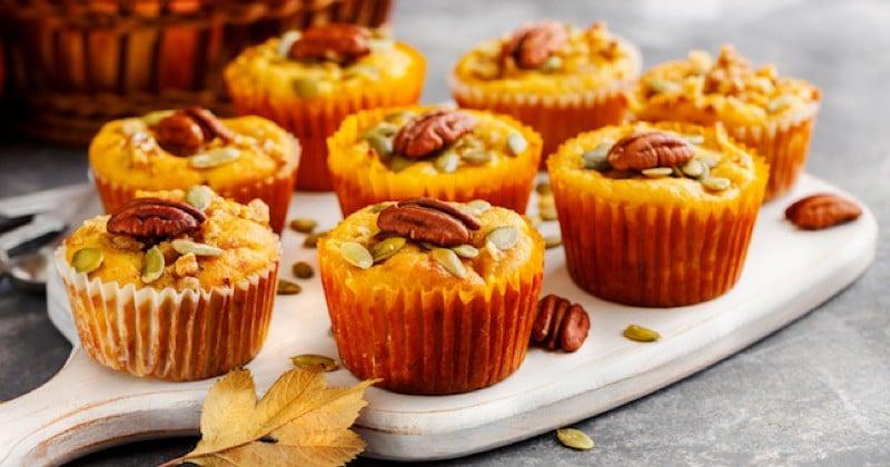 muffins au potimarron et noix de pécan