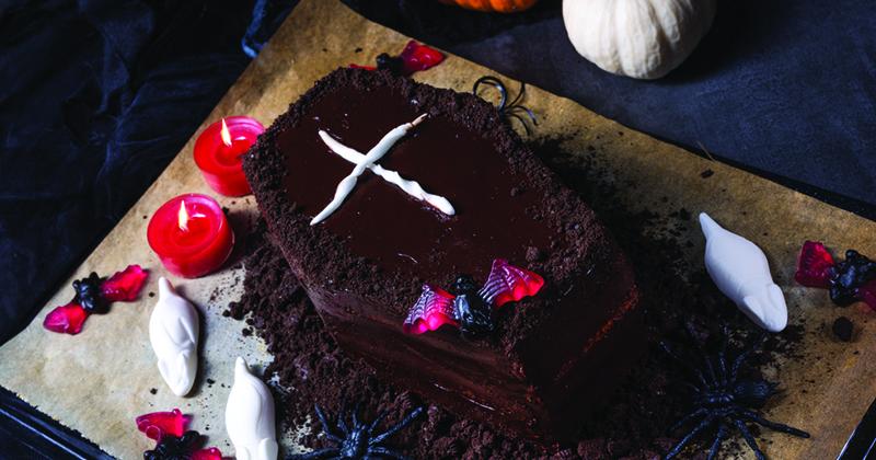 Gâteau cercueil d'Halloween Recette