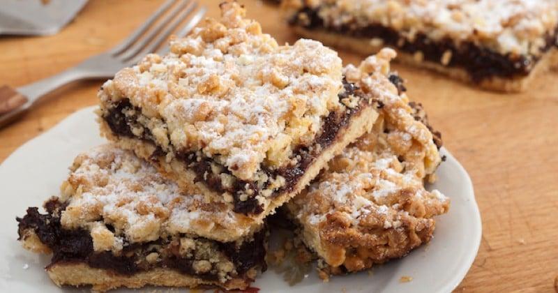 tarte crumble chocolat et poires