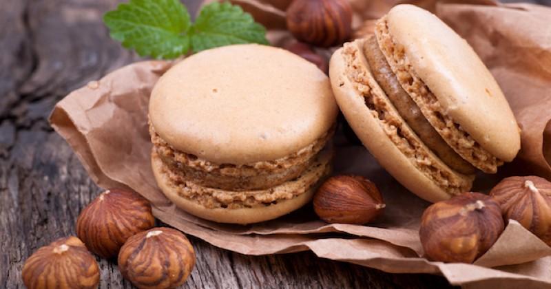 macarons chocolat noisettes