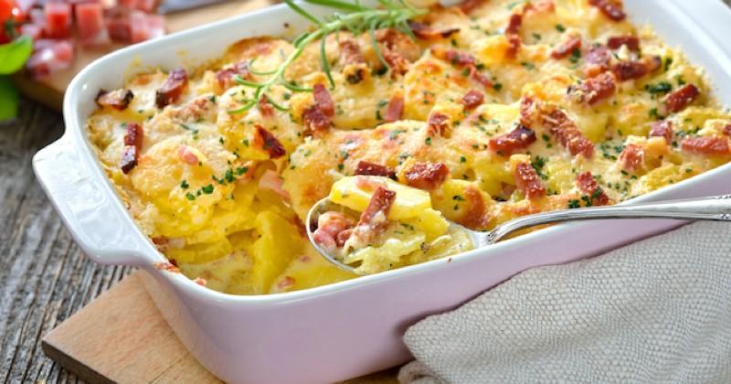 Gratin pommes de terre et bacon Recette