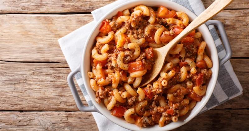 macaroni de viande