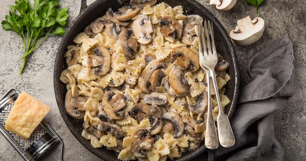 On se régale avec des pâtes automnales aux champignons !